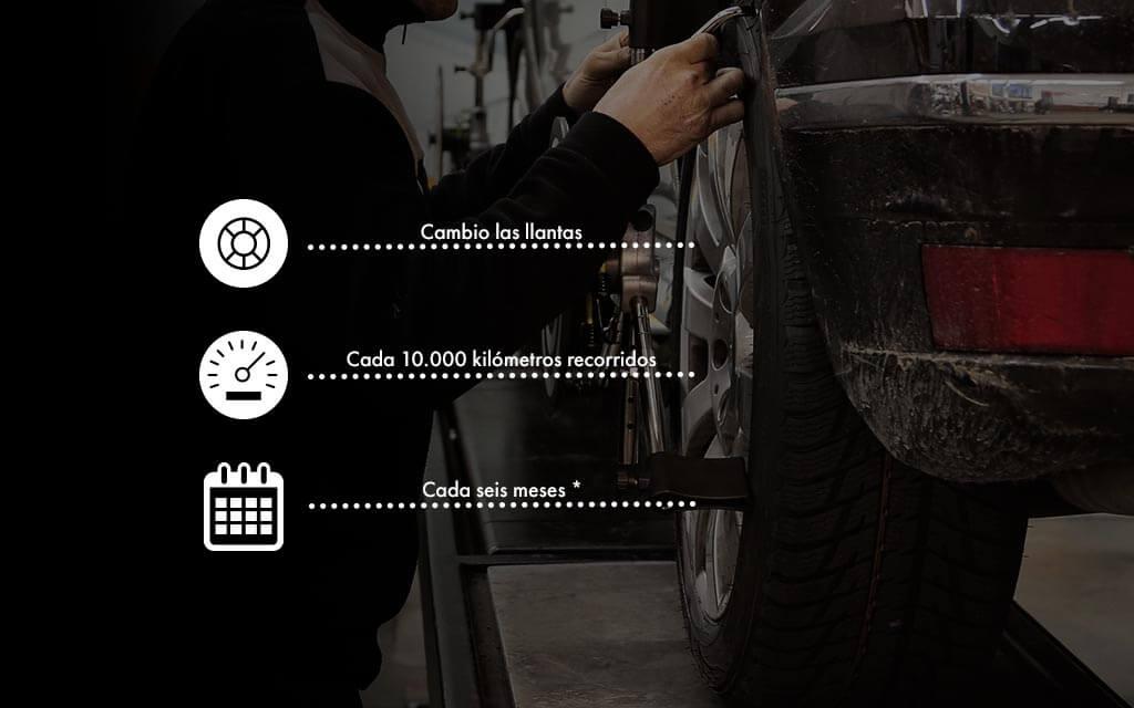 Debes hacer la alineación de tu vehículo cuando cambies llantas, cada 10.000 kilómetros recorridos y cada seis meses