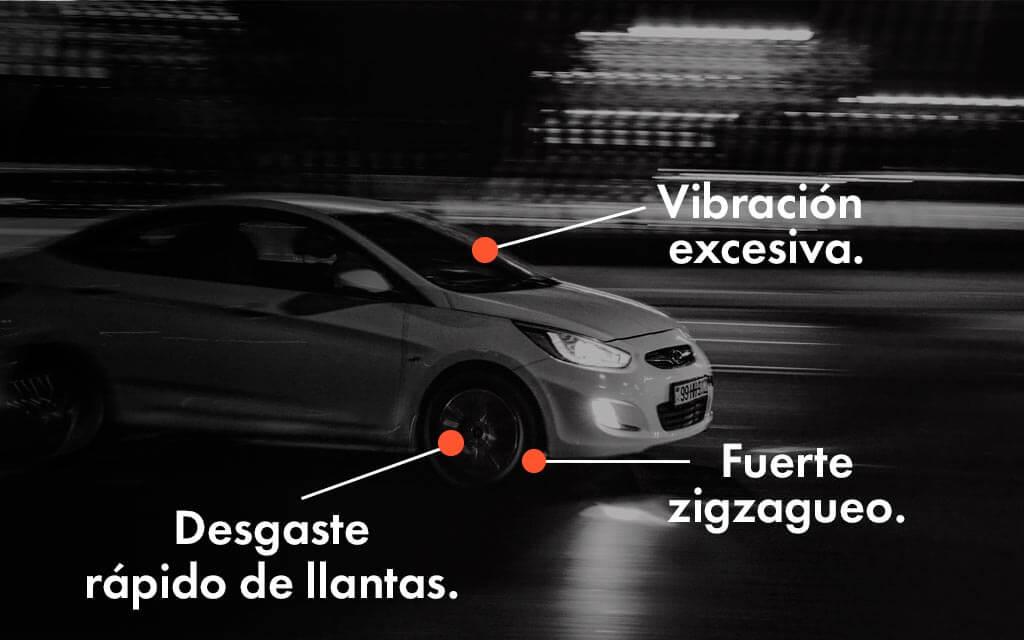 Señales para balancear tu vehículo: Vibración excesiva, desgaste rápido de llantas y fuerte zigzagueo