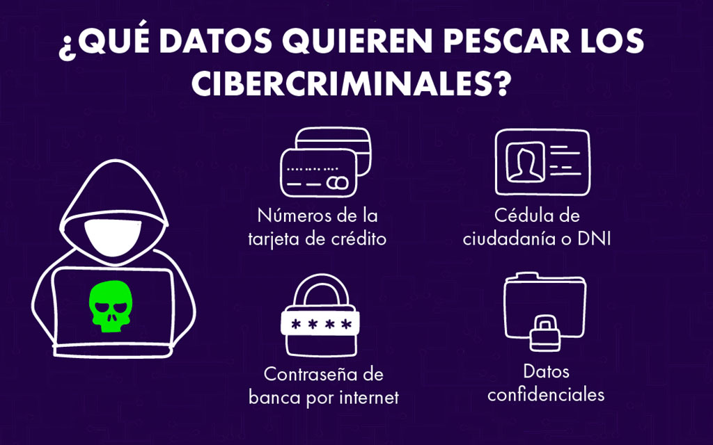 Quieren pescar los cibercriminales: Números de la tarjeta de crédito, DNI, contraseñas y datos confidenciales