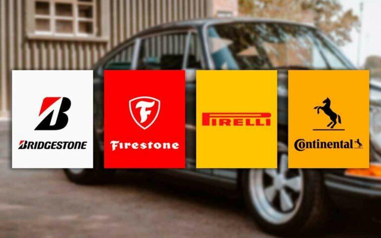 Marcas premium de llantas: Bridgestone, Firestone, Pirelli y Continental