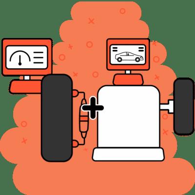Máquinas de alineación y balanceo cumpliendo cada una su función sobre llantas